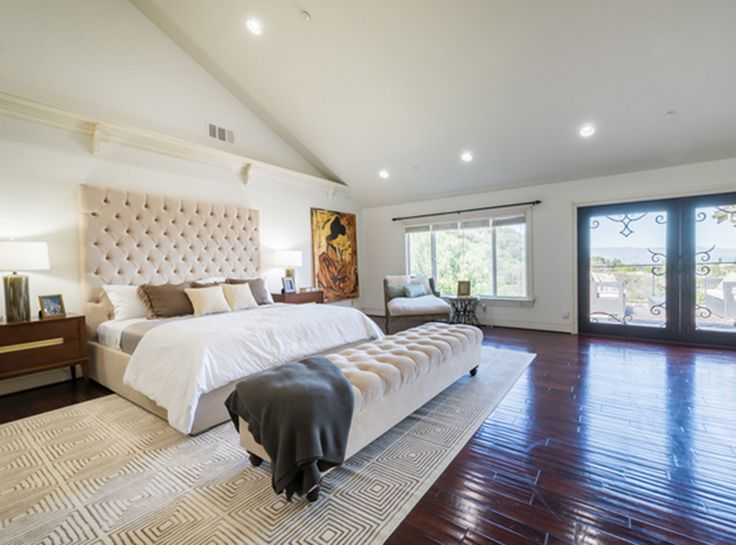 Nick And Vanessa Lachey Just Purchased Jenni Rivera's $4.15 Million Mansion - The Master Bedroom from InStyle.com