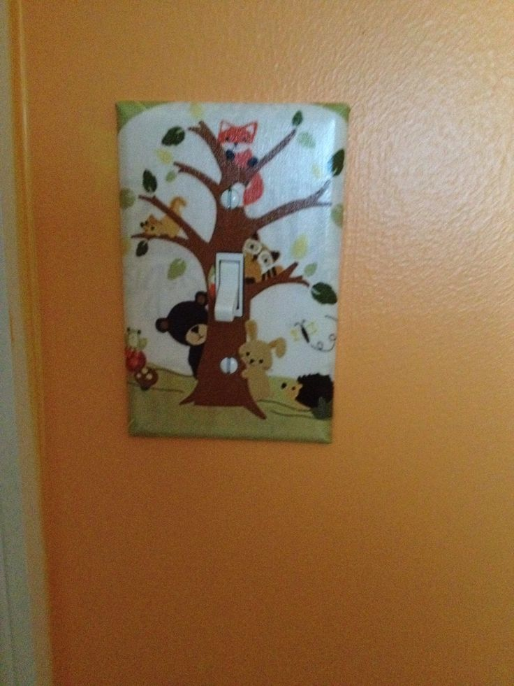Neutral nursery plate cover - lambs and ivy - echo