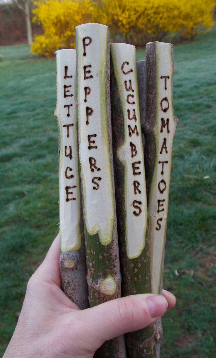 Tree Stick Garden Stakes Plant Markers by HavingtodowithTrees, $14.99
