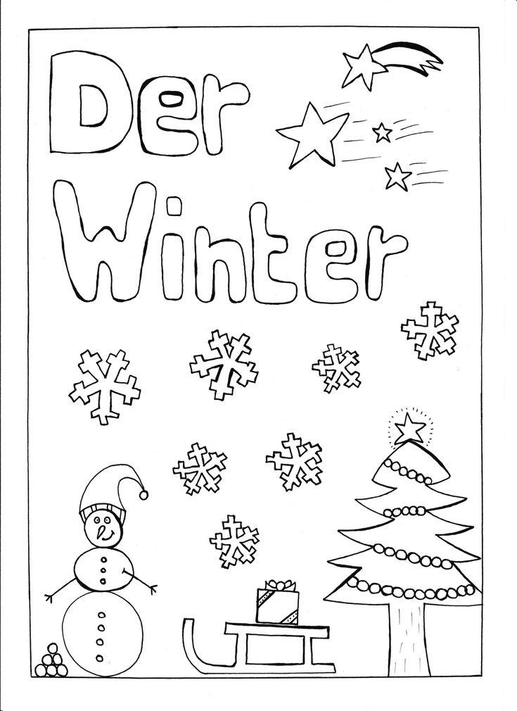 deckblatt - der winter - unterrichtsmaterial in den