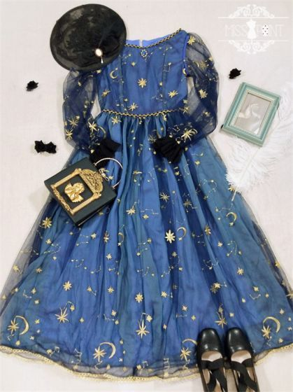 63835fa548 Starry Sky-~ Classic Embroidery Lace OP Dress