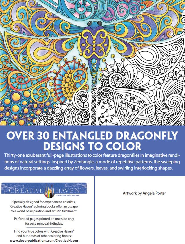 Creative Haven ENTANGLED DRAGONFLIES COLORING BOOK BY DR ANGELA PORTER ABOUT Welcome To