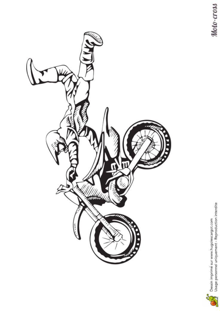 Moto Cross Jump mit Stil ausmalen   Cuadros   Ausmalen  ...