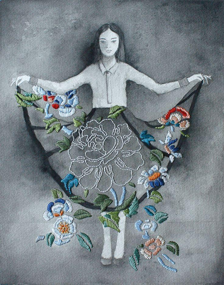izziyana suhaimi embroidered illustration