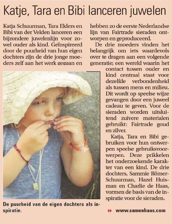 Oprechte Steenwijker Courant September 2013 - Sam&Haas