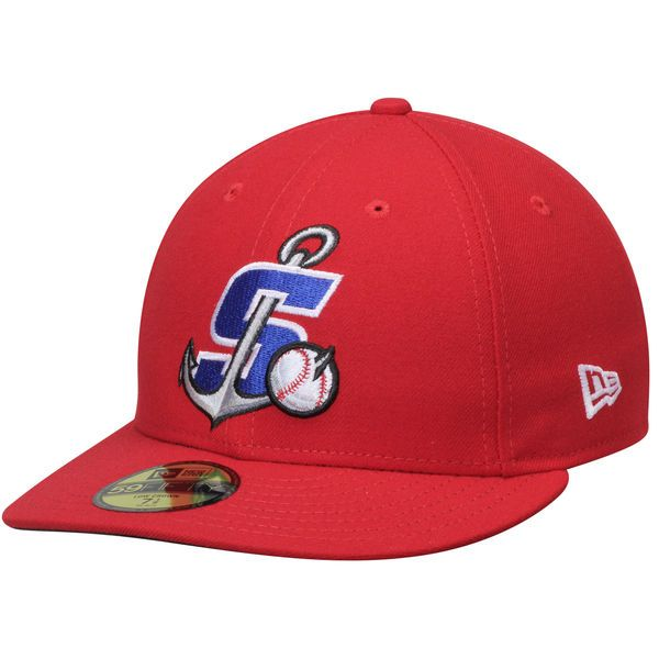 Stockton Ports New Era Home Authentic Collection On Field Low Profile 59fifty Fitted Hat Red Fitted Hats New Era New Era Homes