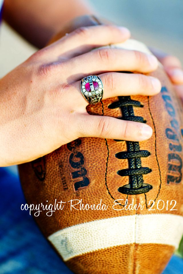 Awesome shot here with both a sports item and showing off a class ring. #seniorphotos #classring #seniorpic