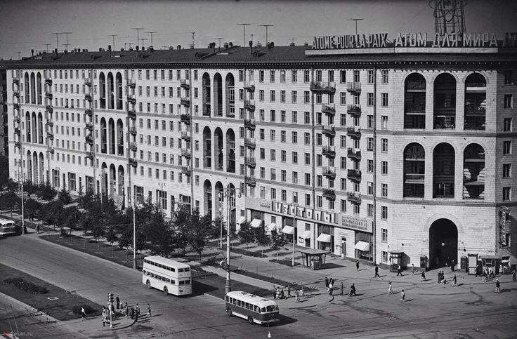 1960s. Moscow.  Москва, Ленинский проспект, 70