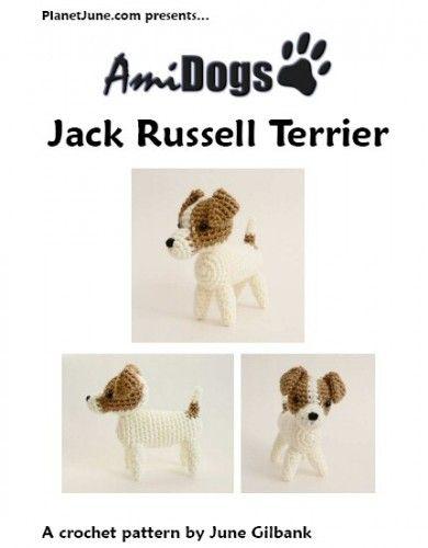 AmiDogs Jack Russell Terrier amigurumi dog crochet pattern | planetjune - Patterns on ArtFire