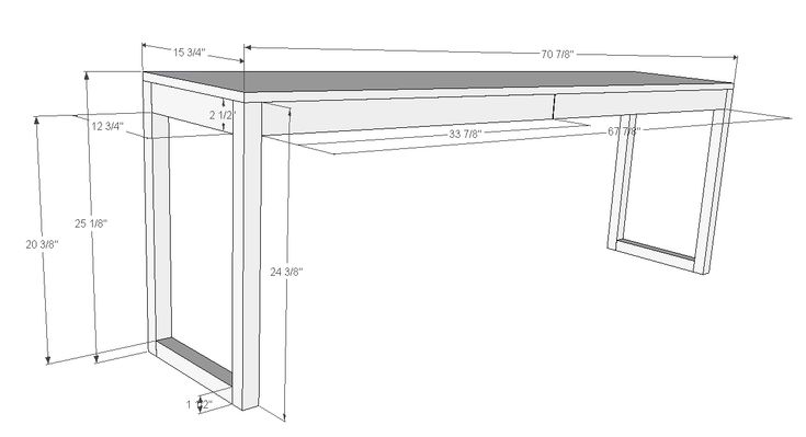 Ana White   Build a Ikea Besta Burs Inspired Desk (WITH Drawers)   Free and Easy DIY Project and Furniture Plans