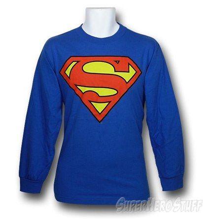 Superman Symbol Long-Sleeve Shirt Royal Blue  http://www.superherostuff.com/superman/t-shirts/superman-symbol-long-sleeve-shirt-royal-blue.html?itemcd=tslssuproyal