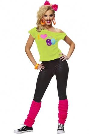 I Love The 80s Top Appel - I Love The 80s Top Appel - Carnavalskleding en Feestkleding - SA Wear