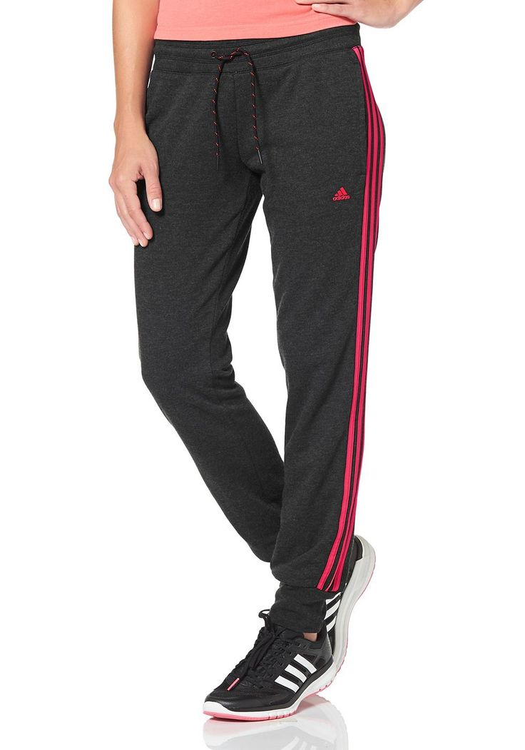 adidas performance essentials 3s pant jogginghose adidas hose und rot. Black Bedroom Furniture Sets. Home Design Ideas