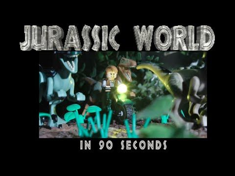 The Entire Plot of 'Jurassic World' Retold in 90 Seconds as a LEGO Animated Short