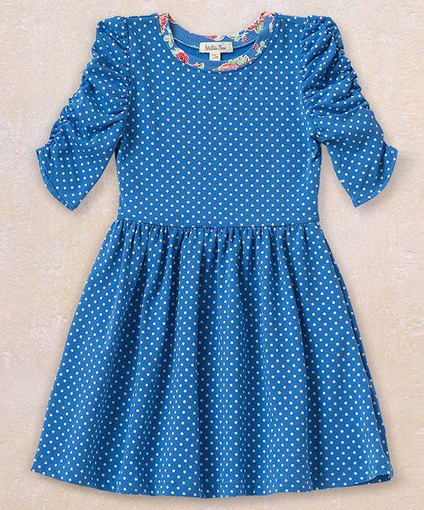 Look at this Matilda Jane Clothing Blue Reagan Lap Dress - Toddler & Girls on #zulily today!