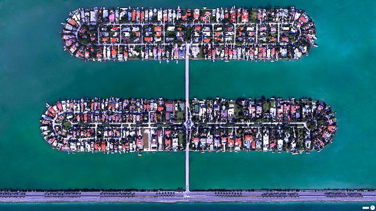 Foto mozzafiato: USA: Miami Beach, Florida - Hibiscus Island e Palm Island