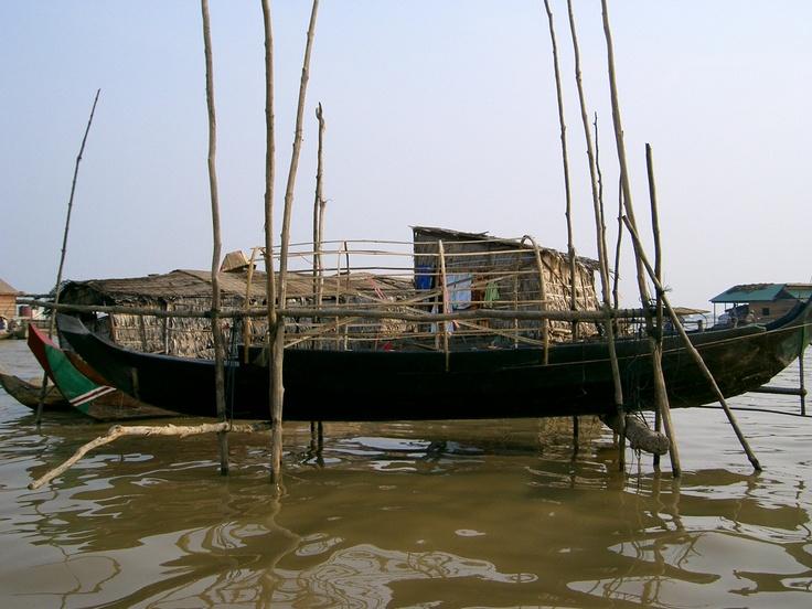 Dry dock on Lake Tonle Sap, Cambodia