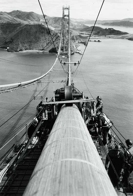 construction Golden Gate Bridge 15 La construction du Golden Gate Bridge  photo histoire featured architecture