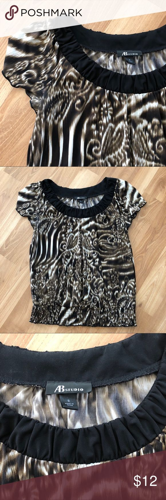 Short Sleeve Top This short sleeve top is soft and stretchy. Dressy and comfortable. AB Studio Tops Blouses
