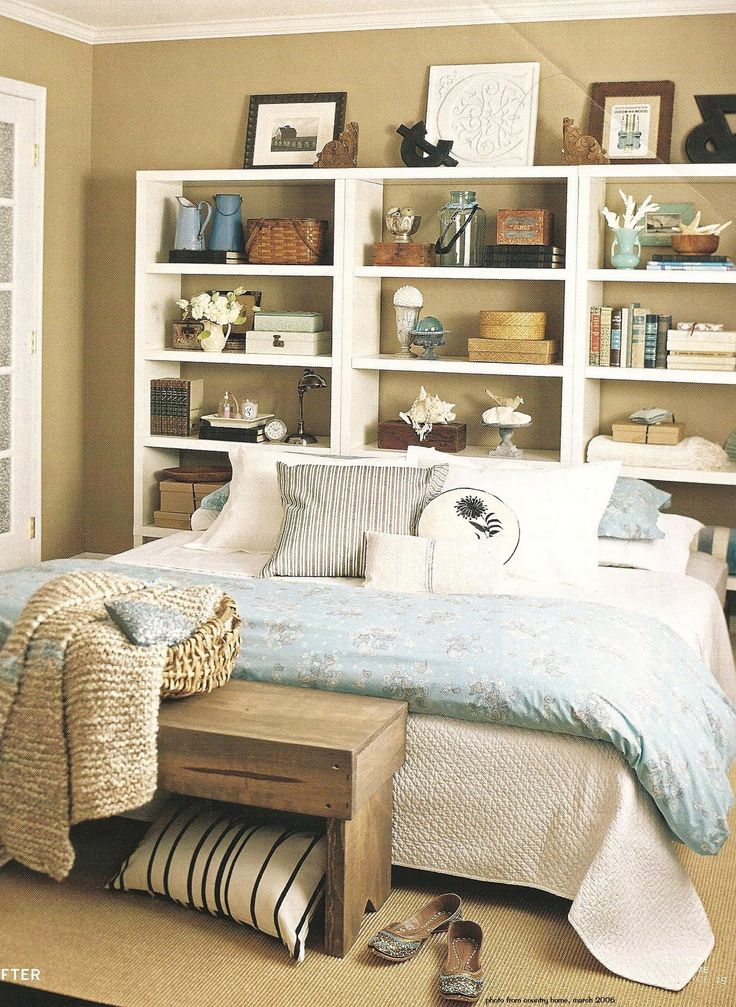 small bedroom or guest room storage solution