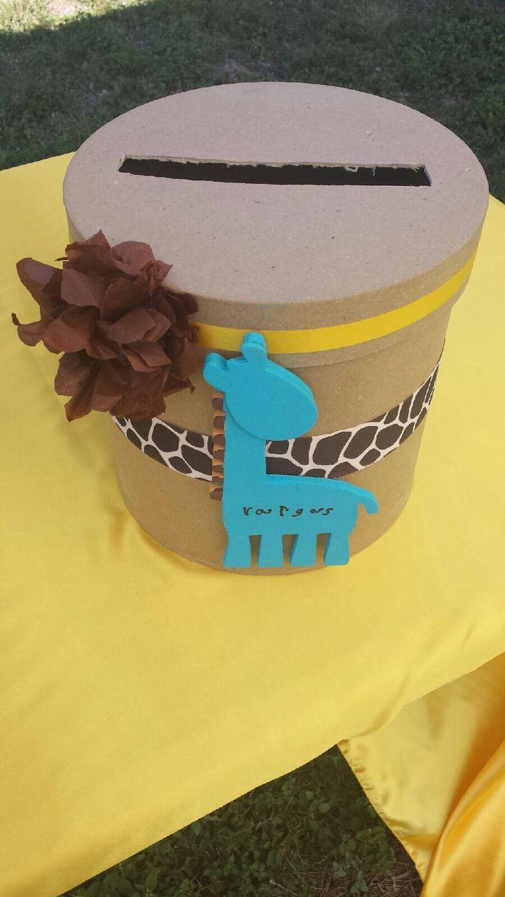 Baby shower gift card box giraffe babyshower yes