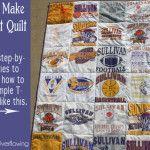How to Make a T-Shirt Quilt: (Week 1) Gather Supplies