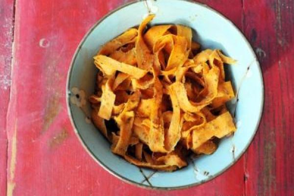"Trout Food + {Honey Almond Sweet Potato ""Fettucini""} | Nosh and Nourish"