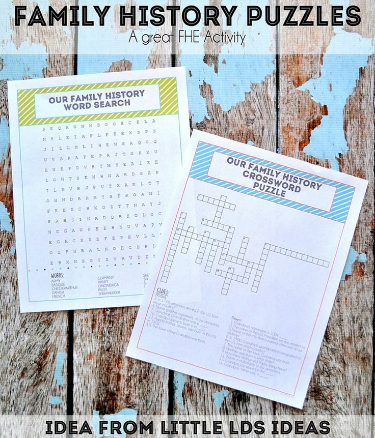Share stories and facts about your ancestors using these fun Family History Puzzles. Idea and FREE printables! #MyForeverFamily