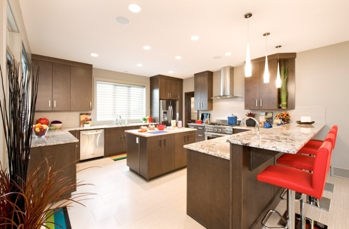 Kensington in Silverado by Broadview Homes. Click here for more #decorating & #decor ideas: http://www.broadviewhomes.com/calgary/photo-gallery #kitchen
