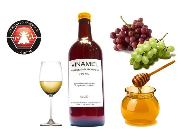 El vino de miel o hidromiel es una bebida con una concentración de alcohol del 10% al 15% obtenida mediante la fermentacion de la miel. #apiterapia