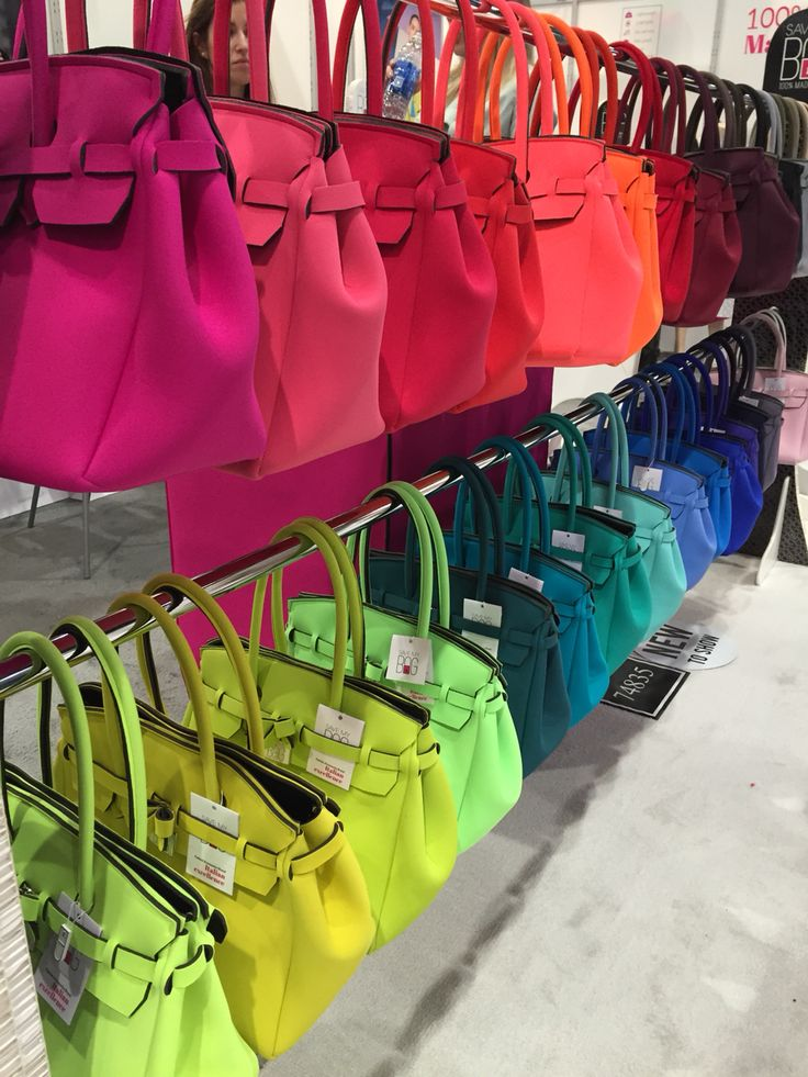 Rainbow of neoprene purses www.savemybag.it