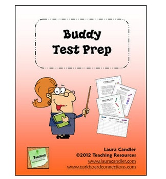 Cooperative Learning Buddy Test Prep activity from Laura Candler - Complete step-by-step directions for an engaging test prep review lesson!