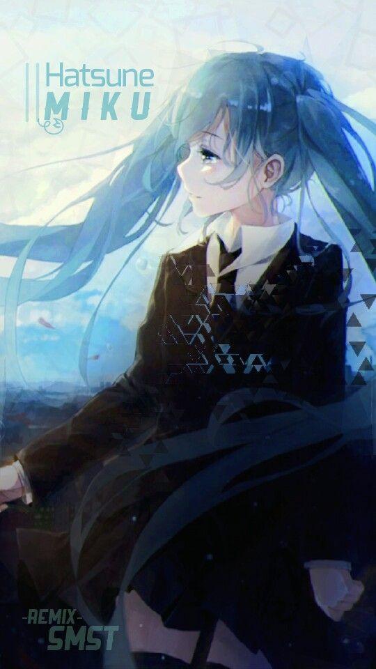 SMST remix - Hatsune Miku from VOCALOID ((Soft-seafoam style))