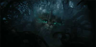 "The first appearance of Cheshire Cat created by Tim Burton was in his film ""Alice in Wonderland"" in 2010."