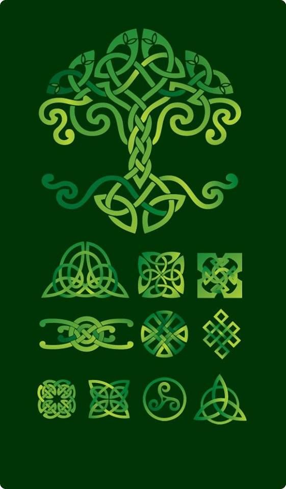 Celtic Tree of Life and various Celtic knots