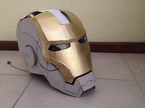 Traje de Iron Man 100% cartón, actualización   casco motorizado   electrónica - YouTube