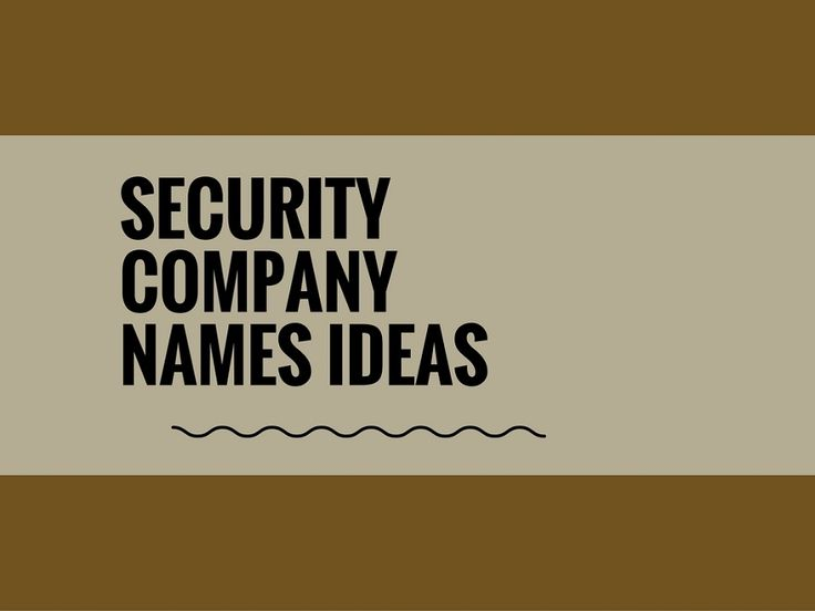 While your business may be extremely professional and important, choosing a creative company name can attract more attention.A Creative name is the most important thing of marketing. Check here creative, best Security Company names ideas for your inspiration.