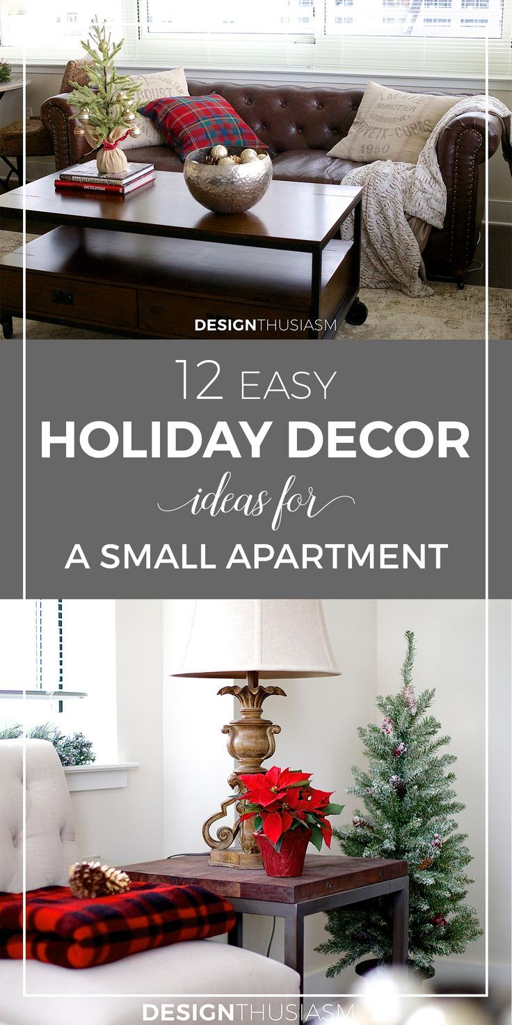 12 Easy Holiday Decorating Ideas For A Small Apartment With Images Christmas Room Decor Christmas Decorations Apartment