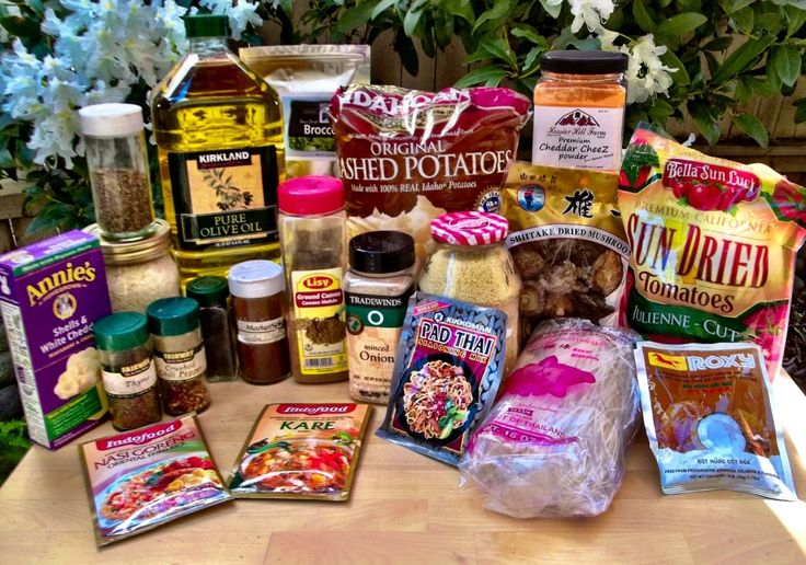 Homemade Light Backpacking Meal Ideas - mix and match ingredients for several different meal options