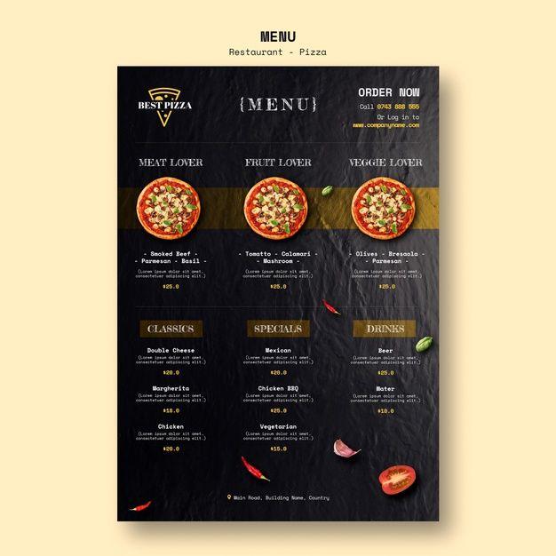 Download Menu Template For Pizza Restaurant For Free Menu