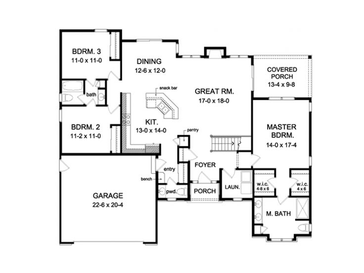 EPlans Ranch House Plan U2013 Roomy U0026 Stylish Ranch U2013 1796 Square Feet And 3  Bedrooms From EPlans U2013 House Plan Code