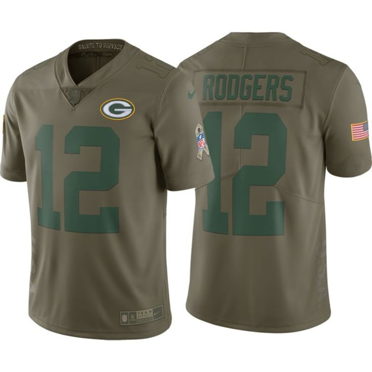 Nike Men's Home Limited Salute to Service 2017 Green Bay Aaron Rodgers #12 Jersey, Size: Large, Team