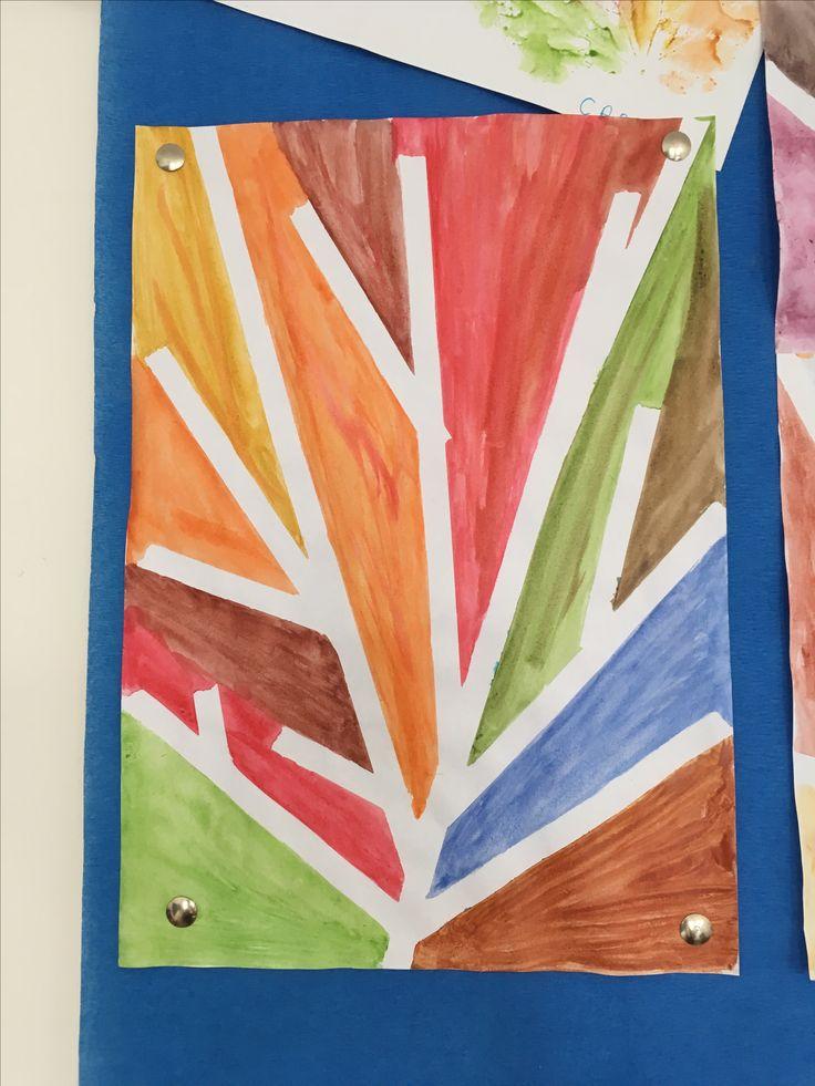 Pictura cu banda adezivă