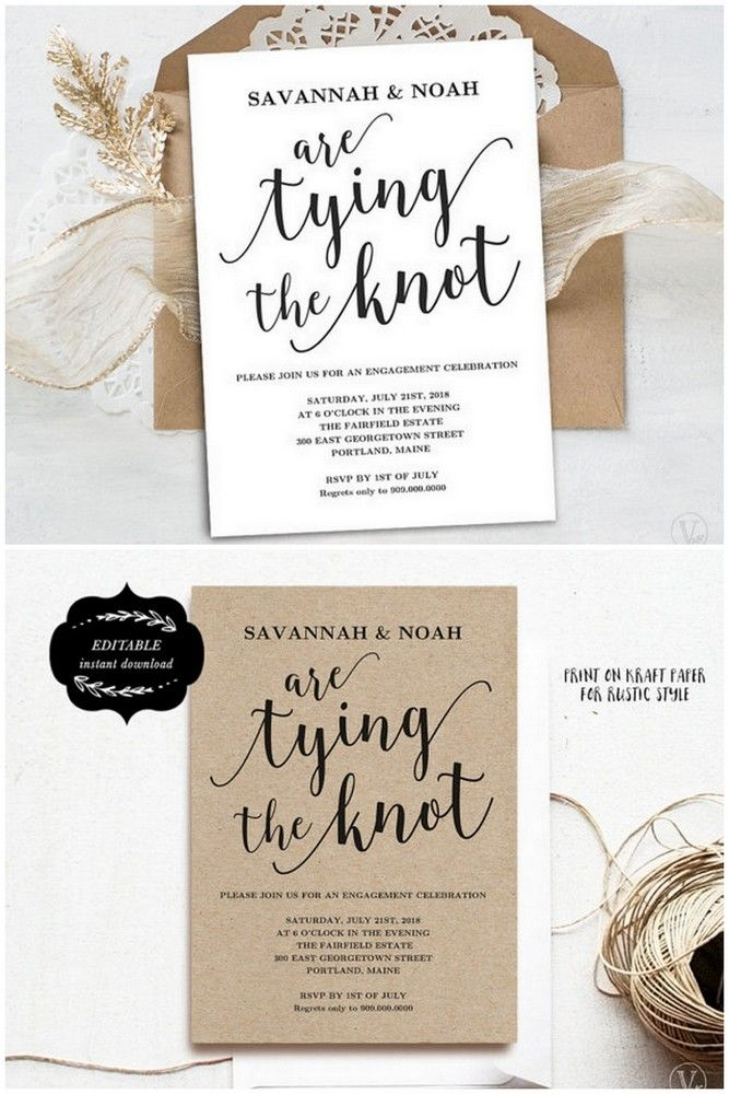 Downloadable Engagement Party Invitation Templates to say YES to: http://www.confettidaydreams.com/engagement-party-invitations/