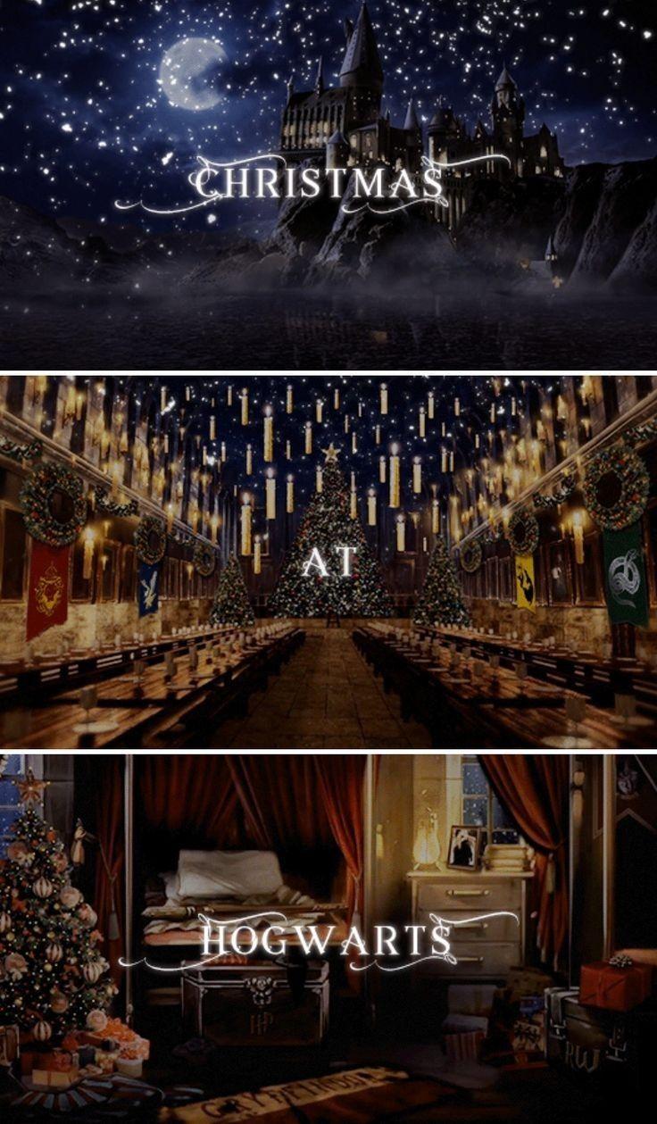 Poudlard Hogwarts Christmas Hogwarts Harry Potter Scene