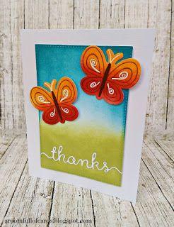 Αγαπημένα distress inks και πεταλούδες για αυτή την ευχαριστήρια κάρτα!