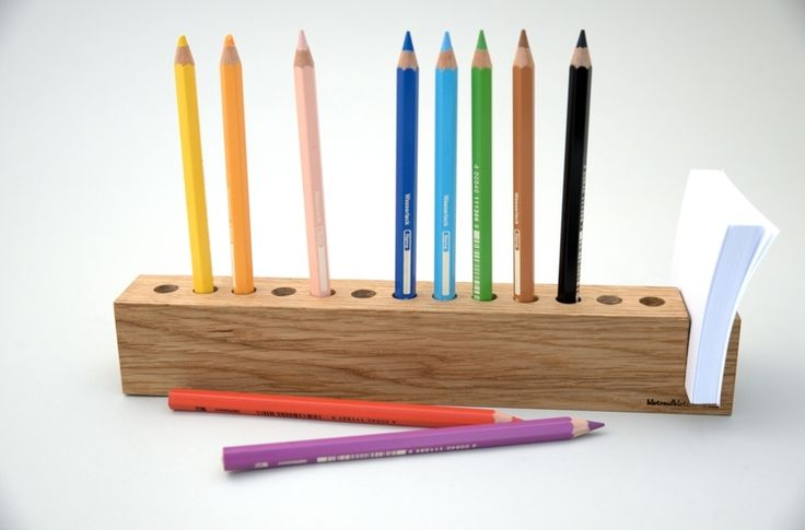 *PARADE* (Eiche)    Willkommen zur *Stifte-PARADE*!  Wer endlich Übersicht auf dem Schreibtisch braucht, der hat hier genau das richtige gefunden!  ...