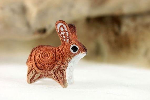 Rabbit Hare Bunny Totem Animal Figurine Fantasy by DemiurgusDreams
