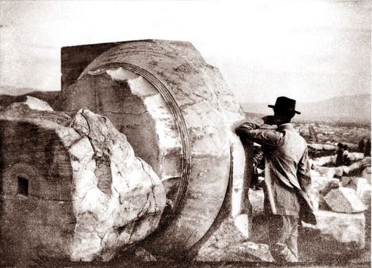"""The father of Modernism Charles Edouard Jeanneret """"Le Corbusier"""" at the Acropolis of Athens, Greece1911. http://hellas-inhabitants."""