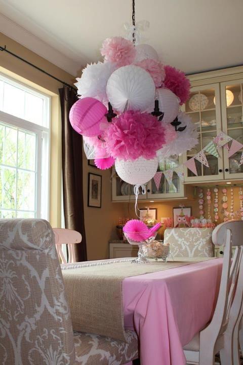Pom Pom chandelier :-)